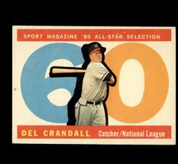 1960 DEL CRANDALL TOPPS #568 ALL STAR EXMT/NM *1577