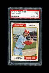 1974 TONY MUSER OPC #286 O PEE CHEE WHITE SOX PSA 7