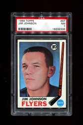 1969 JIM JOHNSON TOPPS #97 FLYERS PSA 7