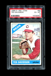 1966 TED DAVIDSON OPC #89 O PEE CHEE REDS PSA 6