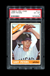 1966 GARY PETERS OPC #111 O PEE CHEE WHITE SOX PSA 6