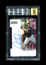 2004 CARLOS QUENTIN BOWMAN STERLING #CQ ROOKIE REFRACTOR AUTO BGS 9/10