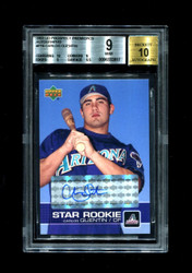 2003 CARLOS QUENTIN UD PROSPECT PREMIERES #P16 STAR ROOKIE AUTO BGS 9/10