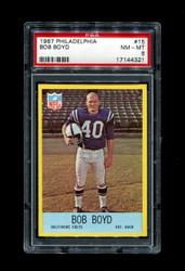 1967 BOB BOYD PHILADELPHIA COLTS PSA 8