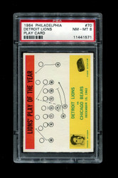 1964 DETROIT LIONS #70 PLAY CARD FOOTBALL PSA 8