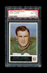 1965 DAVE LLOYD PHILADELPHIA #134 EAGLES PSA 8