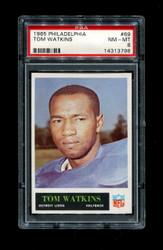 1965 TOM WATKINS PHILADELPHIA #69 LIONS PSA 8