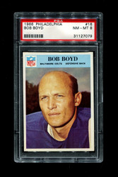 1966 BOB BOYD PHILADELPHIA #16 COLTS PSA 8