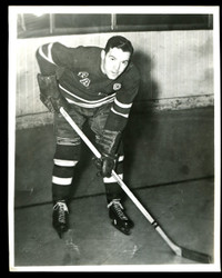 "1949 HERBERT WILLIAM ""BUDDY O CONNOR"" 8X10 NEW YORK RANGERS WIRE PHOTO"