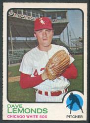 1973 DAVE LEMONDS OPC #534 O PEE CHEE WHITESOX #2624