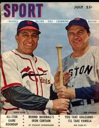 1947 SPORT MAGAZINE JULY EDDIE DYER JOE CRONIN ON COVER