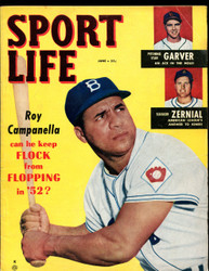 1952 SPORT LIFE MAGAZINE JUNE ROY CAMPANELLA ON COVER