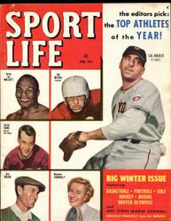 1952 SPORT LIFE MAGAZINE FEBRUARY GORDIE HOWE BEN HOGAN ON COVER