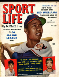 1951 SPORT LIFE MAGAZINE MAY LARRY DOBY ON COVER