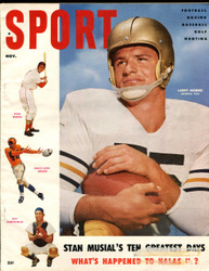 1954 SPORT MAGAZINE NOVEMBER LARRY MORRIS ON COVER
