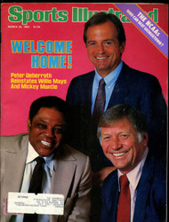 1985 SPORTS ILLUSTRATED MARCH MICKEY MANTLE WILLIE MAYS ON COVER