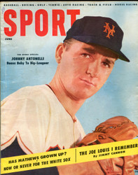 1955 SPORT MAGAZINE JUNE JOHNNY ANTONELLI ON COVER