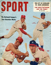 1957 SPORT MAGAZINE MAY CAMPANELLA WARREN SPAHN ON COVER