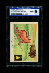 1959 FLEER INDIAN #16 HUNTING A BUFFALO ISA 9