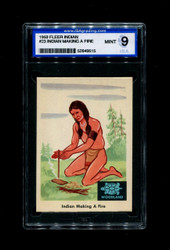 1959 FLEER INDIAN #23 INDIAN MAKING A FIRE ISA 9