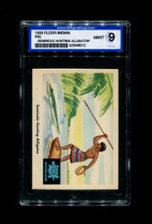 1959 FLEER INDIANS #35 SEMINOLE HUNTING ALLIGATOR ISA 9