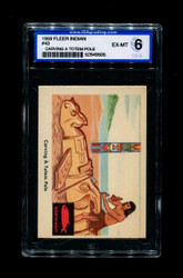1959 FLEER INDIAN #43 CARVING A TOTEM POLE ISA 6