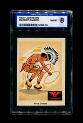 1959 FLEER INDIAN #58 HOOP DANCER ISA 8