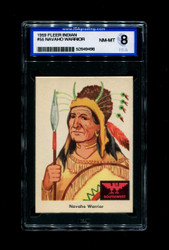 1959 FLEER INDIAN #55 NAVAHO WARRIOR ISA 8