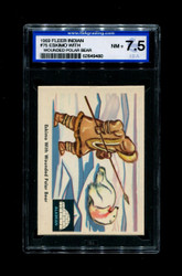 1959 FLEER INDIAN #75 ESKIMO WITH WOUNDED POLAR BEAR ISA 7.5