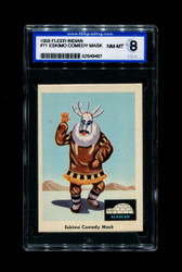 1959 FLEER INDIAN #71 ESKIMO COMEDY MASK ISA 8