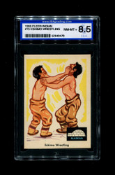 1959 FLEER INDIAN #73 ESKIMO WRESTLING ISA 8.5