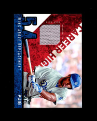 2015 YASIEL PUIG TOPPS GAME USED JERSEY WINS ABOVE PLACEMENT DODGERS *1185