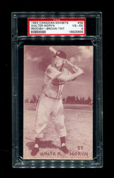 1953 WALTER MORYN CANADIAN EXHIBITS #39 REDDISH BROWN TINT PSA 4