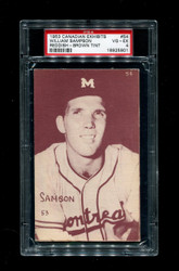 1953 WILLIAM SAMPSON CANADIAN EXHIBITS #54 REDDISH-BROWN TINT PSA 4