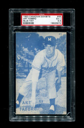 1953 ART FABBRO CANADIAN EXHIBITS #45 BLUE TINT PSA 5.5