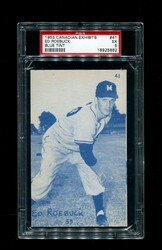 1953 ED ROEBUCK CANADIAN EXHIBITS #41 BLUE TINT PSA 5
