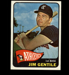 1965 JIM GENTILE TOPPS #365 ATHLETICS NM *2111