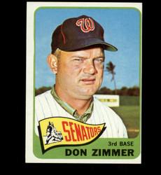 1965 DON ZIMMER TOPPS #233 SENATORS EX *4747