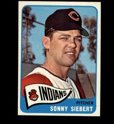 1965 SONNY SIEBERT TOPPS #96 INDIANS NM *3150