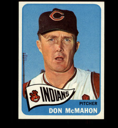 1965 DON MCMAHON TOPPS #317 INDIANS EXMT *3678