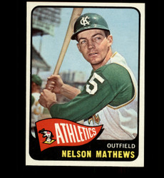 1965 NELSON MATHEWS TOPPS #87 ATHLETICS NM/MT *5322