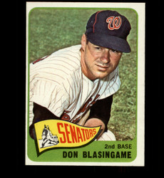 1965 DON BLASINGAME #21 SENATORS NM/NMMT *3300