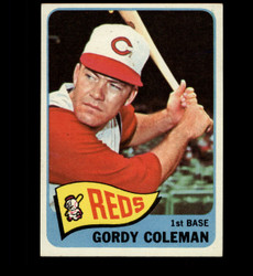 1965 GORDY COLEMAN TOPPS #289 REDS EXMT*2109