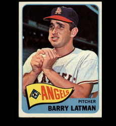 1965 BARRY LATMAN TOPPS #307 ANGELS EXMT *2323