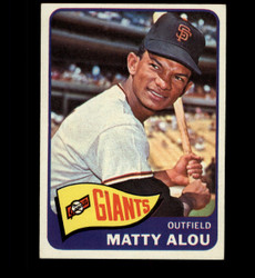 1965 MATTY ALOU TOPPS #318 GIANTS EXMT *2212