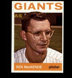 1964 KEN MACKENZIE TOPPS #297 GIANTS EXMT *4172