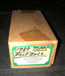1989 TOPPS FOOTBALL COMPLETE FACTORY SEALED SET NFL 396/396