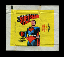 1966 TOPPS SUPERMAN WAX WRAPPER