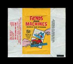 1970 FIENDS AND MACHINES DONRUSS WAX WRAPPER
