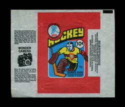 1976 OPC WHA HOCKEY WAX WRAPPER O PEE CHEE